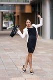 Mulher de negócios nova assustado fotos de stock