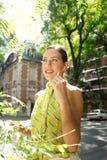 Mulher de negócios com grupo da orelha. Fotos de Stock Royalty Free