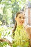 Mulher de negócios com grupo da orelha. imagens de stock