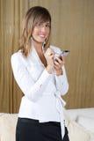 Mulher de negócios nova bonita Foto de Stock Royalty Free