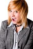 Mulher de negócios nova feliz imagem de stock royalty free