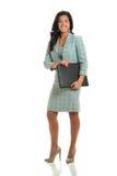 Mulher de negócios nova Holding Binder Imagem de Stock