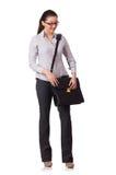 Mulher de negócios nova isolada Fotografia de Stock Royalty Free