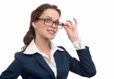 Mulher de negócios nova pensativa Looking Away Imagem de Stock Royalty Free