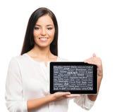 Mulher de negócios nova, segura, bem sucedida e bonita Fotografia de Stock