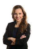 Mulher de negócios nova Smiling Fotografia de Stock