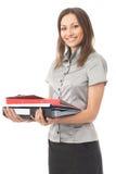 Mulher de negócios ocupada Foto de Stock Royalty Free