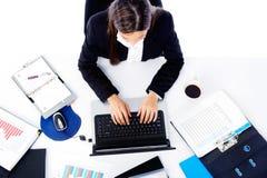 Mulher de negócios ocupada Imagem de Stock