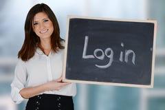 Mulher de negócios At Office Imagens de Stock Royalty Free