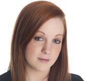 Mulher de negócios - olhar fixo do close up Foto de Stock Royalty Free