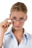 Mulher de negócios ou estudante novo atrativo imagens de stock