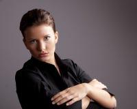 Mulher de negócios ou estudante universitário Imagens de Stock Royalty Free
