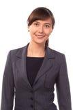 Mulher de negócios ou professor de sorriso isolada Fotos de Stock Royalty Free