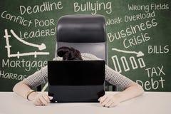 Mulher de negócios Overworked Fotos de Stock