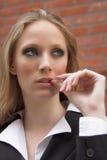 Mulher de negócios pensativa Imagem de Stock Royalty Free