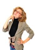Mulher de negócios pensativa Imagem de Stock