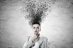 Mulher de negócios pensativa Fotos de Stock