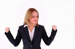 Mulher de negócios positiva fotografia de stock royalty free