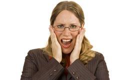 Mulher de negócios preocupada Imagem de Stock