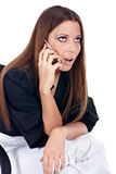 Mulher de negócios preocupada Fotografia de Stock Royalty Free