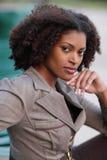 Mulher de negócios preta imagens de stock royalty free