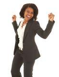 Mulher de negócios preta imagem de stock royalty free