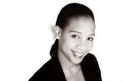 Mulher de negócios preta do Sepia fotos de stock
