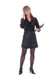 Mulher de negócios que chama pelo telefone Foto de Stock
