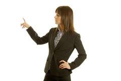 Mulher de negócios que faz a apresentação imagem de stock royalty free