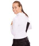 Mulher de negócios que gira para trás Foto de Stock Royalty Free