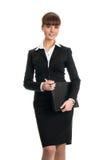 Mulher de negócios que guardara o dobrador Fotografia de Stock Royalty Free