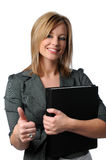 Mulher de negócios que mostra o Thunbs-Up Foto de Stock Royalty Free