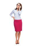Mulher de negócios que olha acima Foto de Stock Royalty Free