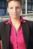 Mulher de negócios que olha o Imagem de Stock Royalty Free