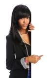 Mulher de negócios que prende o sinal em branco Fotos de Stock Royalty Free