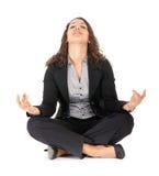 Mulher de negócios que relaxa imagem de stock royalty free