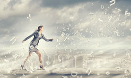 Mulher de negócios running Foto de Stock Royalty Free