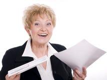 Mulher de negócios satisfeita imagens de stock royalty free