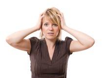 Mulher de negócios Scared Imagem de Stock Royalty Free