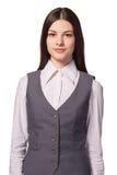 Mulher de negócios segura nova bonita Imagem de Stock