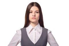 Mulher de negócios segura nova bonita Thinking Imagens de Stock