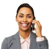 Mulher de negócios segura Using Smart Phone fotografia de stock royalty free