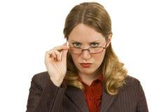 Mulher de negócios severo Foto de Stock Royalty Free
