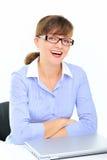 Mulher de negócios sexual no escritório Foto de Stock Royalty Free