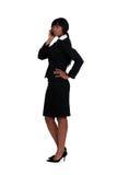 Mulher de negócios sobre o telefone. imagens de stock royalty free