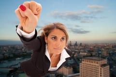 Mulher de negócios super Fotos de Stock