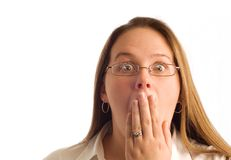 Mulher de negócios surpreendida Imagens de Stock Royalty Free
