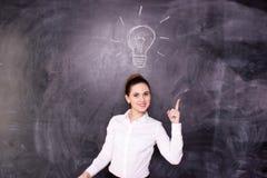 A mulher de negócios tem uma idéia Imagem de Stock Royalty Free