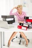 Mulher de negócios trabalhadora Imagem de Stock