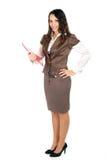 Mulher de negócios triguenha foto de stock